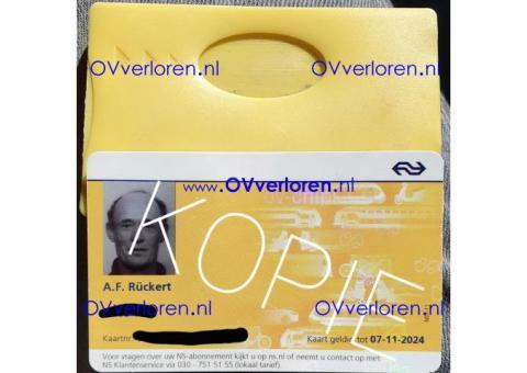 Ov-kaart gevonden Roermond-Nijmegen (Arriva)