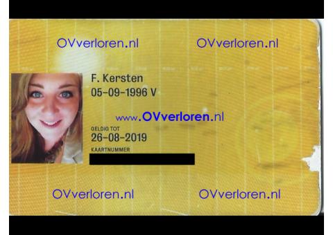 OV Chipkaart F. Kersten